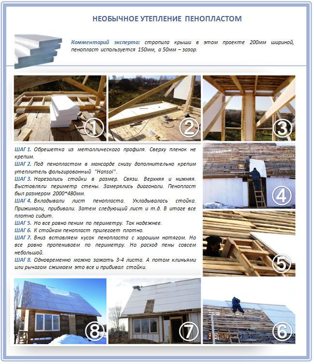 Утепление пенопластом дома и крыши