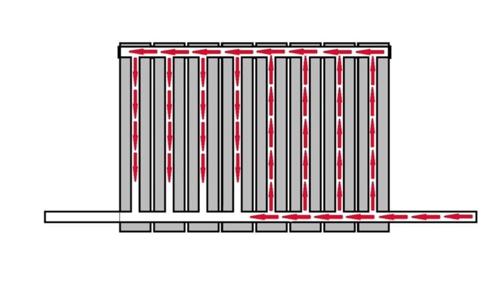 схема нижнее подключение радиаторов отопления