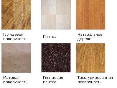 Тип поверхности ламината