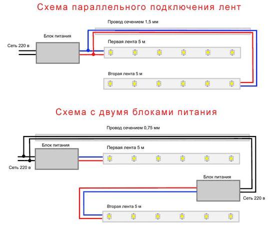 Ниже схема для подключение RGB