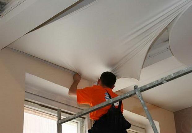 Как сделать натяжной потолок своими руками, практичные советы