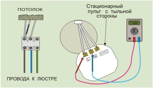Провода соединяем к клеймам на