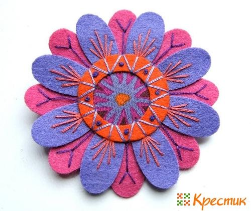 Цветы из фетра фото 1