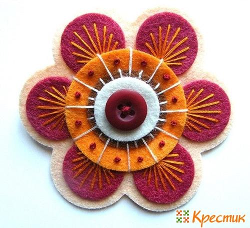 Цветы из фетра фото 4