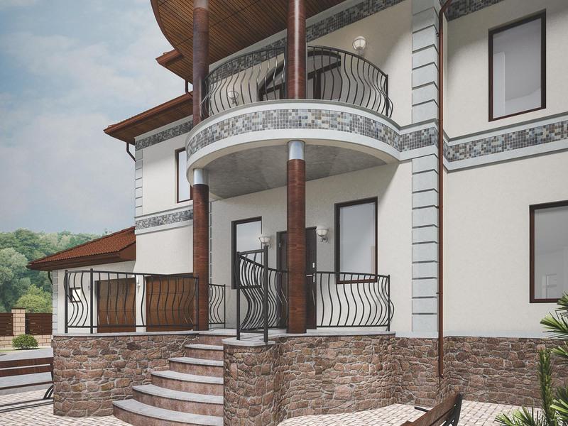 Крыльцо с балконом для частного дома фото