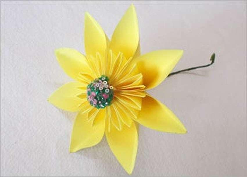 оригами цветы кусудамы