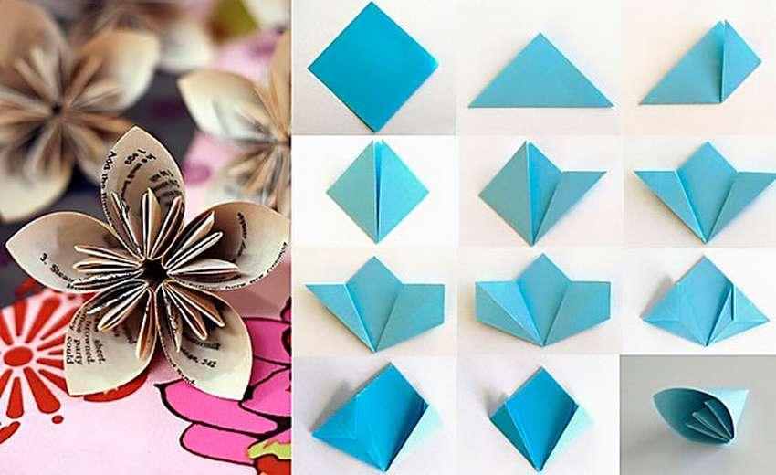 цветок оригами кусудама