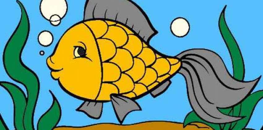 раскраска рыбок для детей