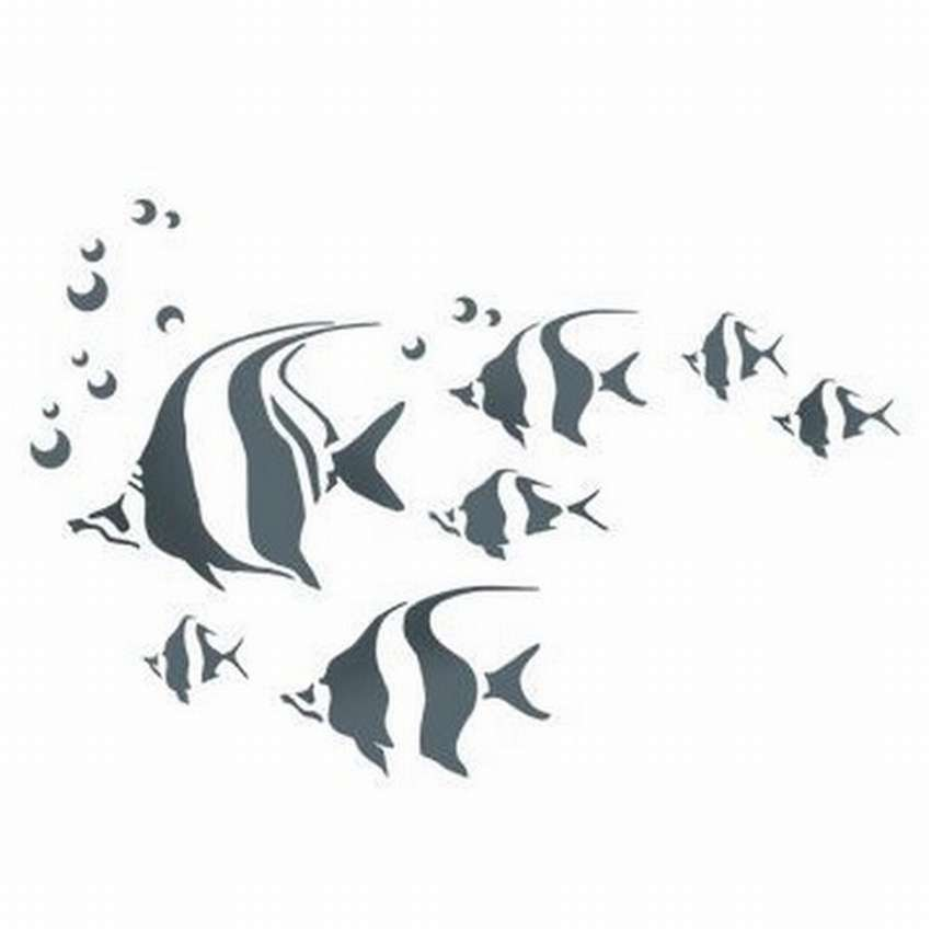 трафареты рыбок для вырезания из бумаги