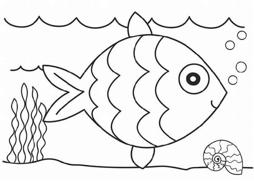 раскраски рыбы для детей распечатать
