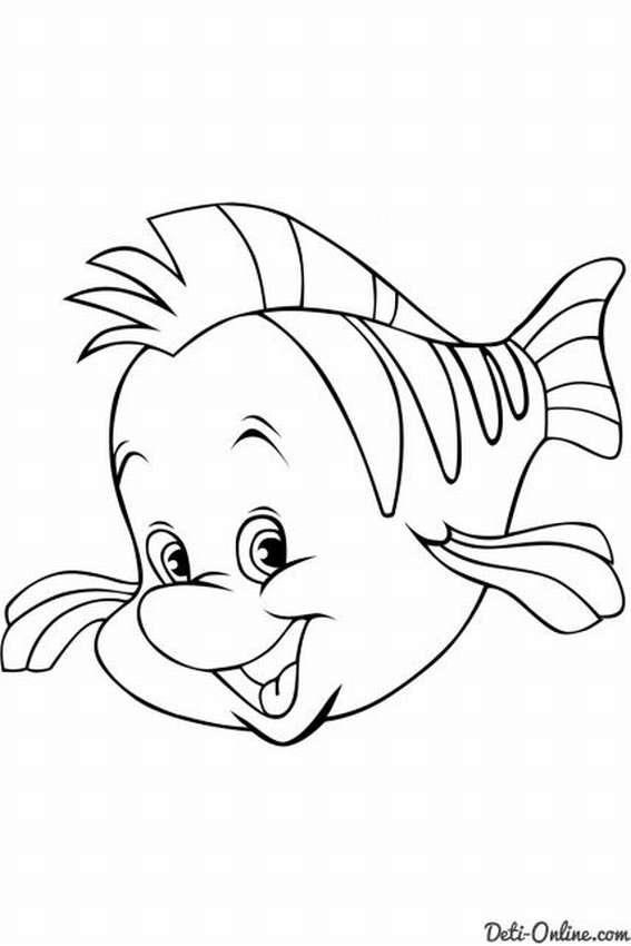 раскраски рыбок для детей