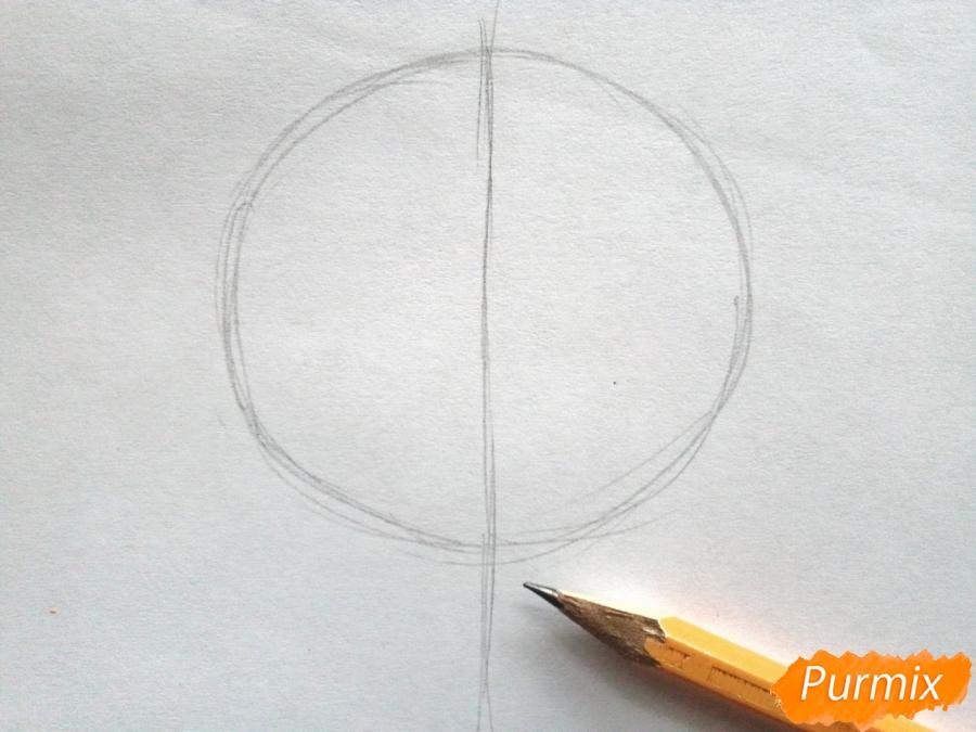 Рисуем кленовый лист черной ручкой - шаг 1