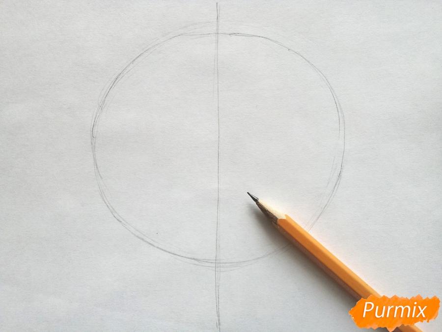 Рисуем кленовый лист цветными карандашами - шаг 1
