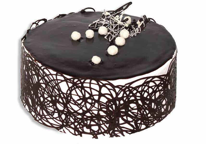 Украшение торта сеточкой