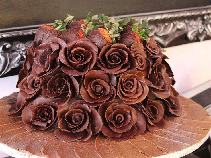 Розочки из шоколада