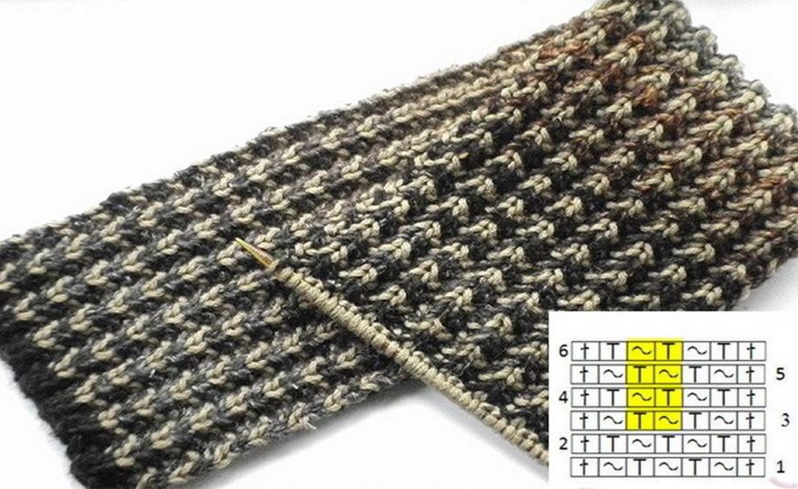 Шарф - вязание спицами