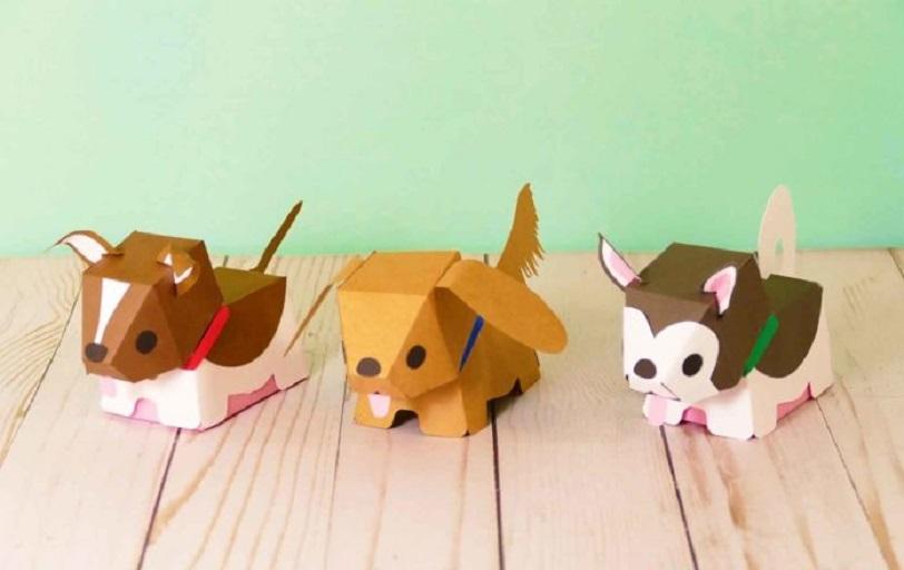 Как сделать собаку из бумаги пошагово