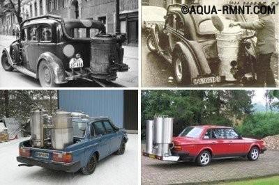 Дровяной генератор для автомобиля