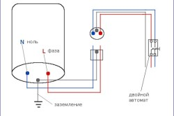 Схема подключения бойлера к сети