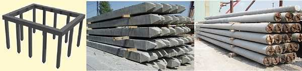 Свайный фундамент из бетонных блоков