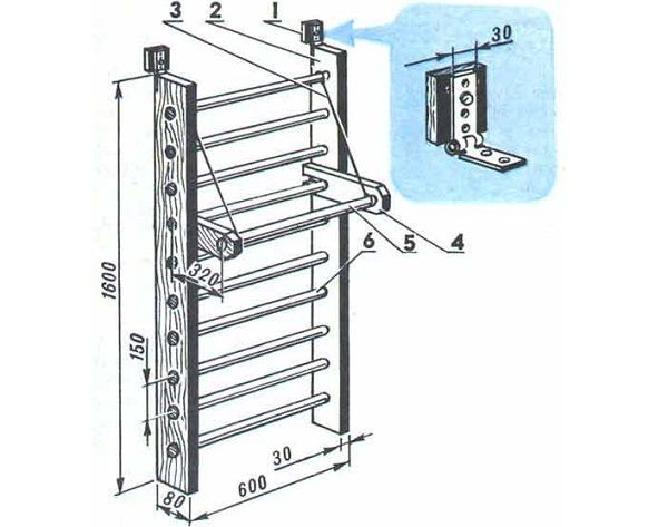 Лестница в мансарду чертеж