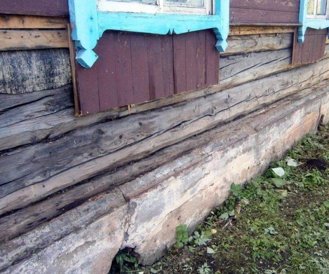 Ремонт ленточного фундамента деревянного дома