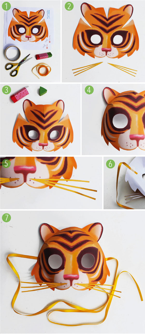 Tiger-mask-template