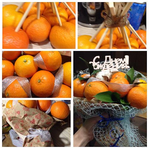 buket iz mandarinov