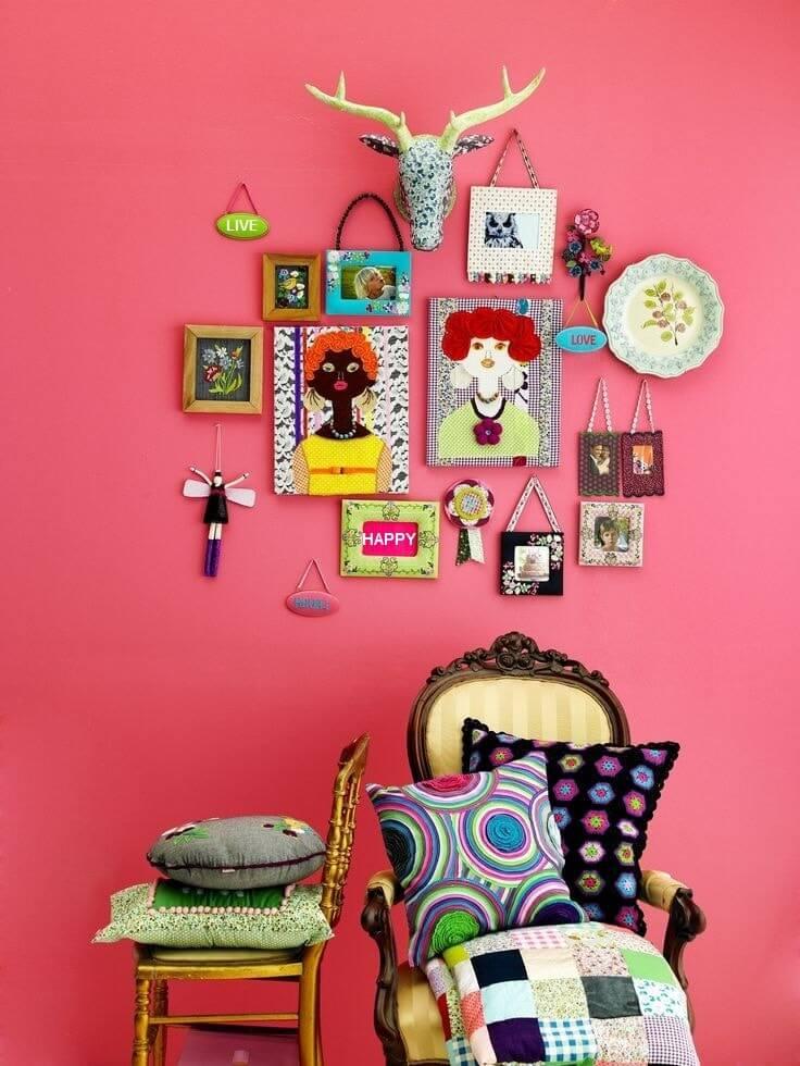 Красивое оформление стены в стиле поп-арт