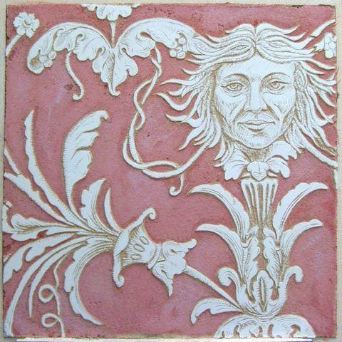 Рисунок, выполненный в технике сграффито