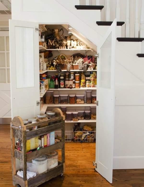 шкафы под лестницей фото, фото 16