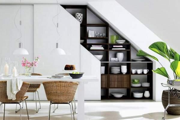 шкафы купе под лестницей фото, фото 18