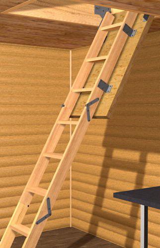складная лестница на чердак с люком