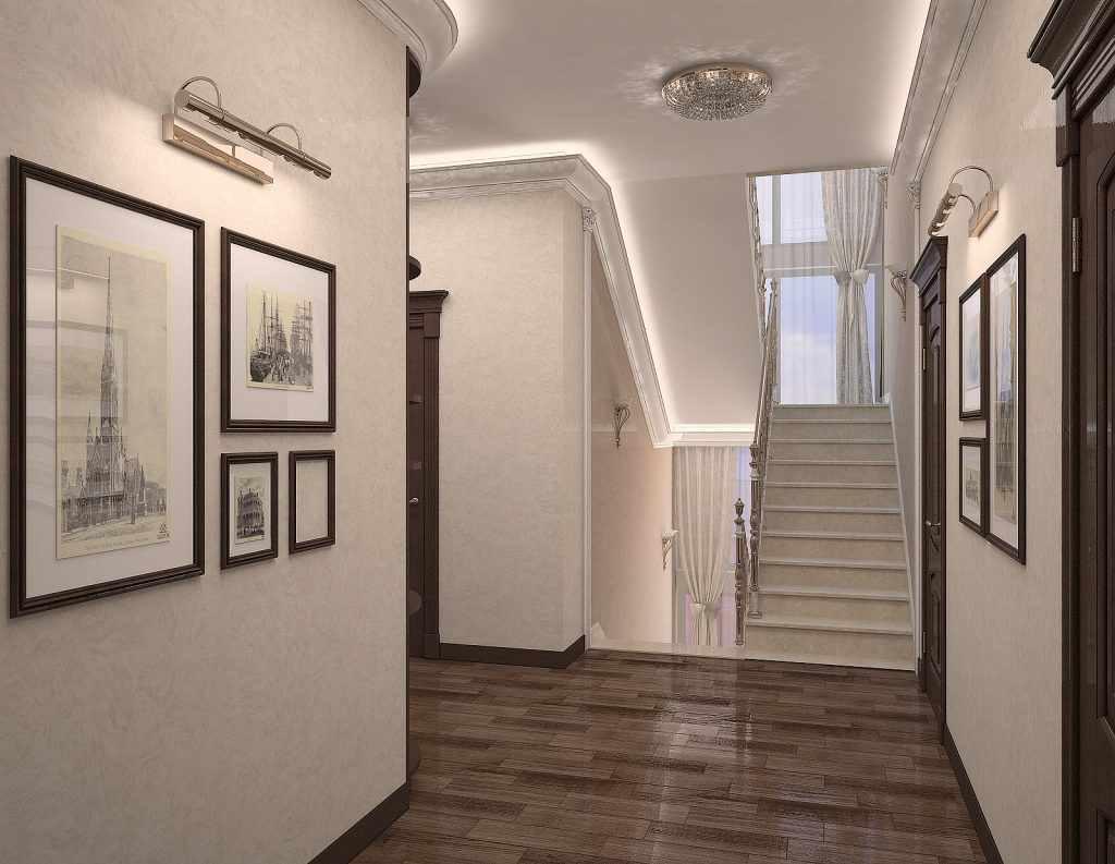 идея яркого интерьера лестницы