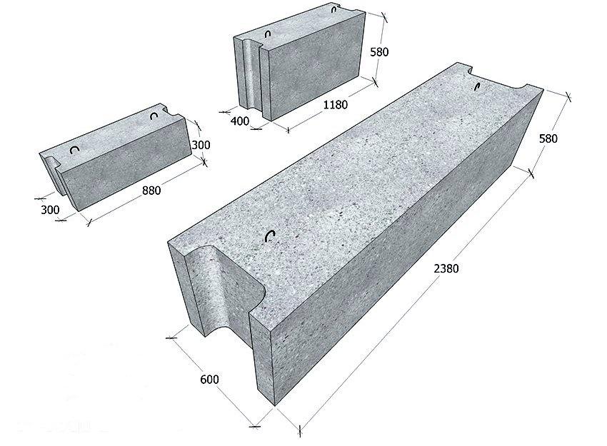 Размеры блоков ФБС согласно сортаменту