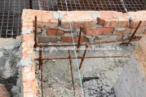 Восстановление старого фундамента