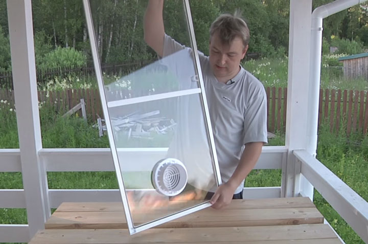 как вывести гофротрубу от мобильного кондиционера в окно