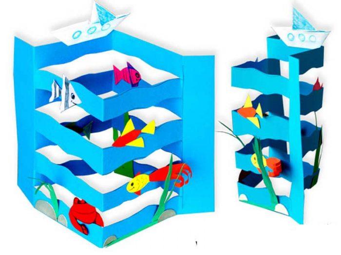Море из бумаги пошаговый мастер-класс