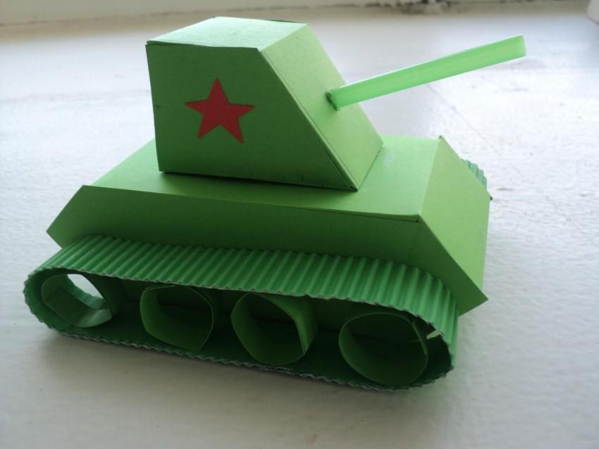 Поделка танк своими руками из картона