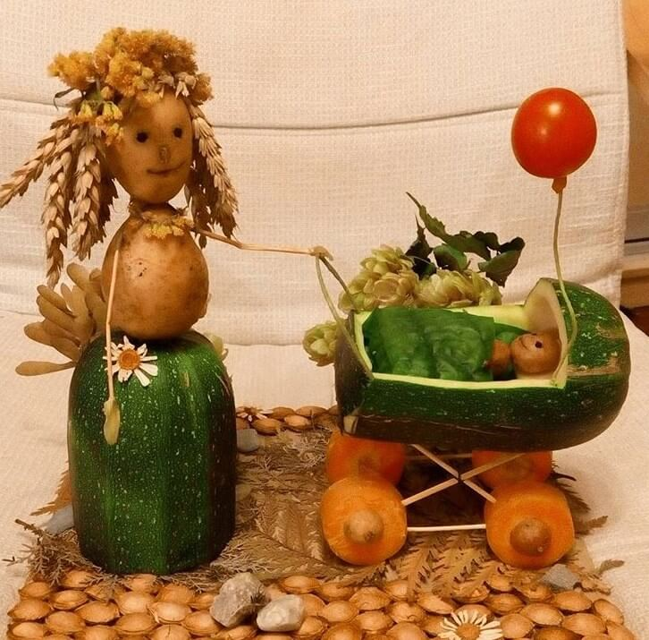 Поделки своими руками овощи картинки