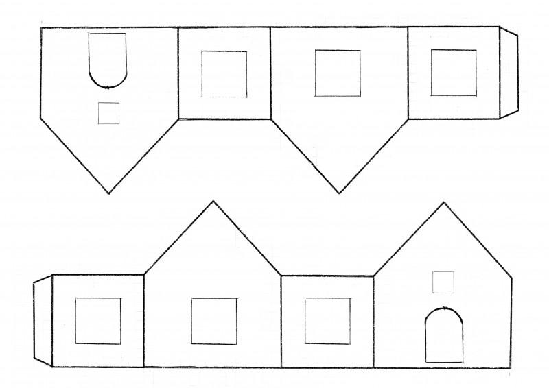 сказочный домик своими руками шаблоны