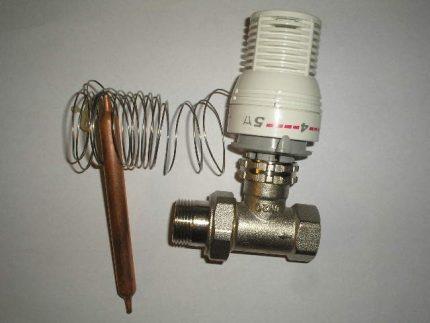 Термостатический клапан с выносным датчиком