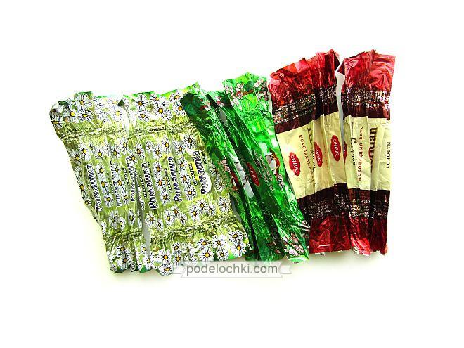 поделки из фантиков от конфет цветы