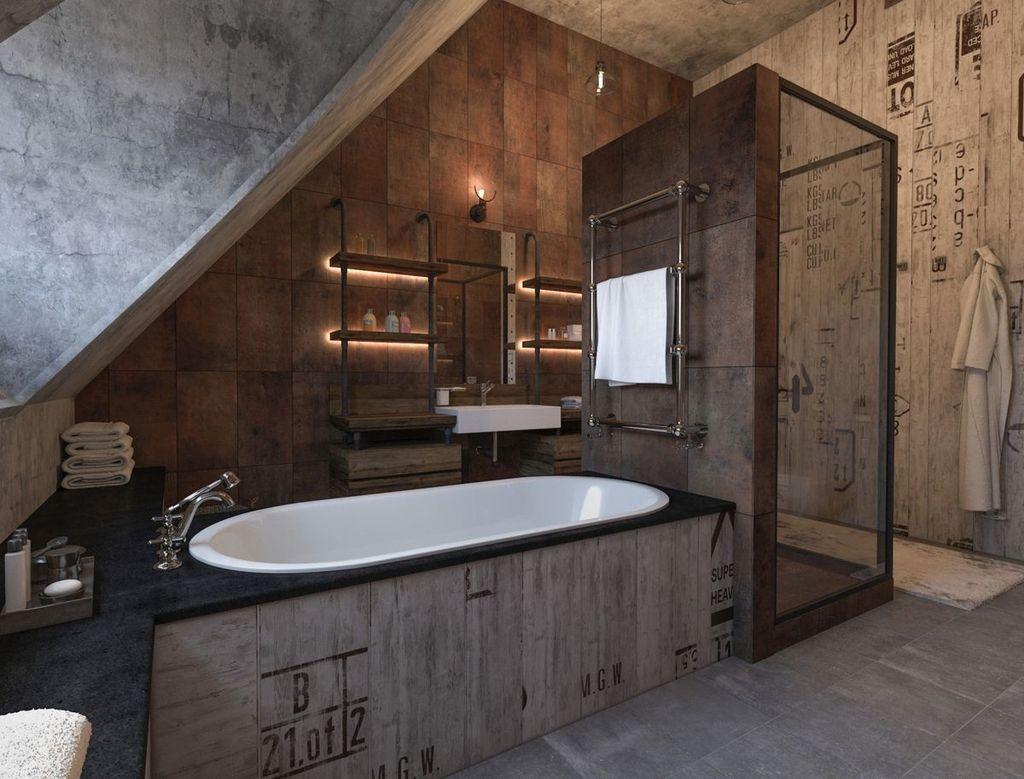 Для лофта характерно использование отделки бетоном и аксессуары из промышленных материалов