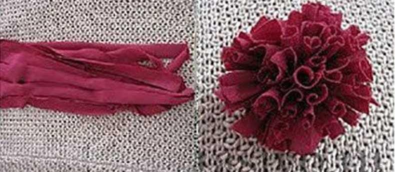 Можно сделать помпоны из старых трикотажных вещей или полотенец