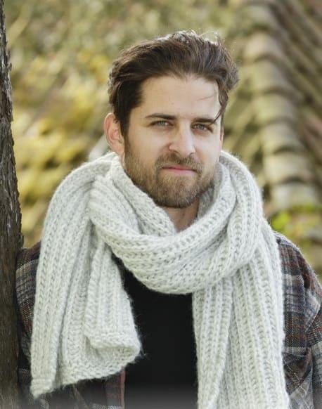 Двусторонний узор для мужского шарфа