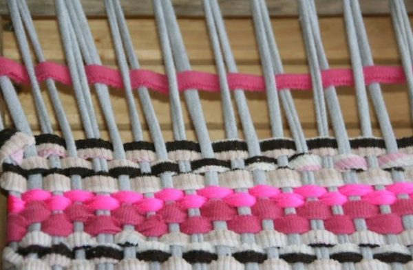 Плетение коврика