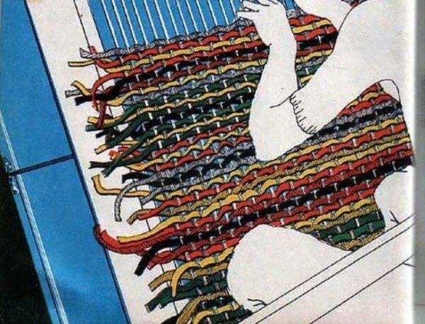 Плетение коврика с бахромой