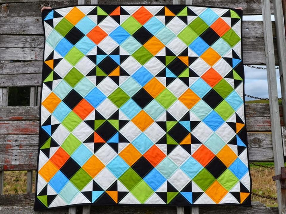 пэчворк квадрат в квадрате
