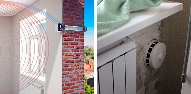 Как правильно ставится приточное устройство в стену